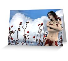 Tears of a Wild Rose with Rose Moxon Greeting Card