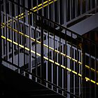 Dark And Yellow Stairway by Colin S Pearson