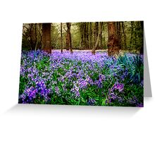 In And Out The Dusty Bluebells Greeting Card
