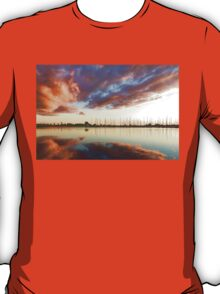 Reflecting on Yachts and Clouds - Lake Ontario Impressions T-Shirt