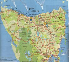 photoj Tasmania Map-'The Heart Of Australia' by photoj