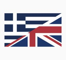 uk greece flag Kids Clothes