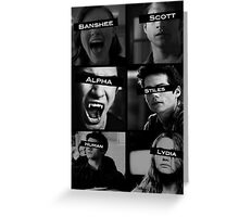 Teen Wolf Black&White Greeting Card