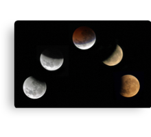 Partial Lunar Eclipse - August 17 2008  Canvas Print