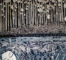 "Secret Forest Dreams-Aquatint Etching by Belinda ""BillyLee"" NYE (Printmaker)"