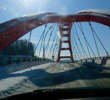 dirty windscreen, red bridge by melb100