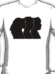 Hermione, Harry, Ron Silhouettes (Harry Potter) T-Shirt