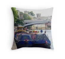 Narrow Boats Throw Pillow