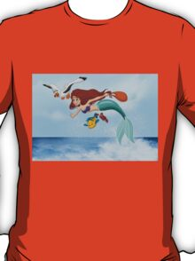 """The Little Mermaid - Ariel """"Flying with Scuttle"""" T-Shirt"""