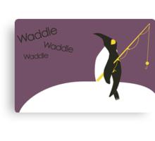 Waddle waddle waddle Canvas Print