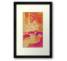 Flowers - Red and gold Framed Print
