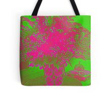 Flower - Lime and pink Tote Bag