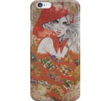 Red With Her Hood iPhone Case/Skin