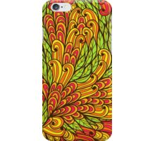 Floral bright doodle pattern iPhone Case/Skin