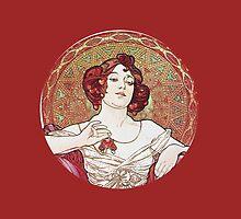 Vintage Alphonse Mucha Goddess by Boogiemonst