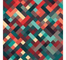 Retro Geometric Pattern Photographic Print