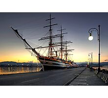 Sailing Ship in the Dawn   Photographic Print