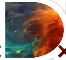TDE Orange and Blue Nebula Sticker