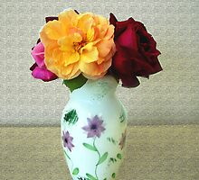 Roses in a Vase by Judi Taylor