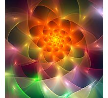 Colourful fractal vortex abstract Photographic Print