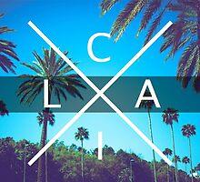 Los Angeles California CALI X LA palm trees by Telic