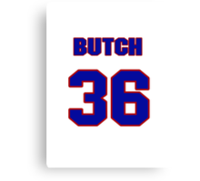 National baseball player Butch Metzger jersey 36 Canvas Print