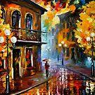 Fall Rain 2 — Buy Now Link - www.etsy.com/listing/219987095 by Leonid  Afremov