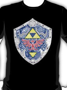 Zedla - Link Shield doodle T-Shirt