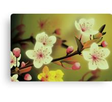 Yoshie blossom green Canvas Print