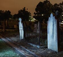 Moonlit Gravestones by Tim Beasley