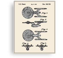 Enterprise Toy Figure Patent - Colour Canvas Print