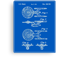 Enterprise Toy Figure Patent - Blueprint Canvas Print