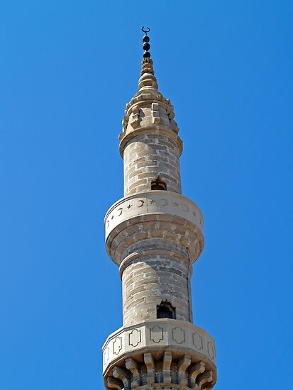 Minaret in Rhodes by Memaa