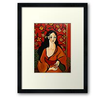 Golden Geisha Framed Print