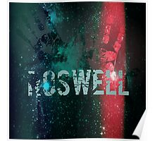 galaxy roswell alien hand print Poster