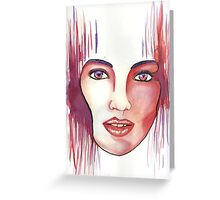 Red hot woman Greeting Card