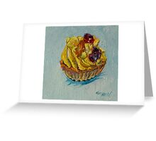Fresh fruit tart Greeting Card
