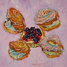 Cream puff pastries and fruit tart by Vitali Komarov