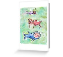 Lil Swimmers Greeting Card