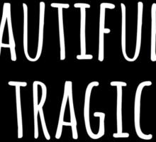 Beautifully Tragic Floral Sticker