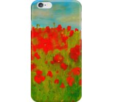 A field of poppies (oil on canvas 750 x 1000) iPhone Case/Skin