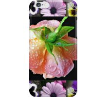 Bejewelled Orange Wildfire Rose Collage iPhone Case/Skin