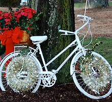 ghost bicycle for a somber christmas by Bill Manocchio