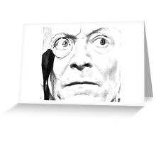 1st Doctor Close Up Sketch Greeting Card