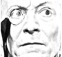1st Doctor Close Up Sketch Photographic Print