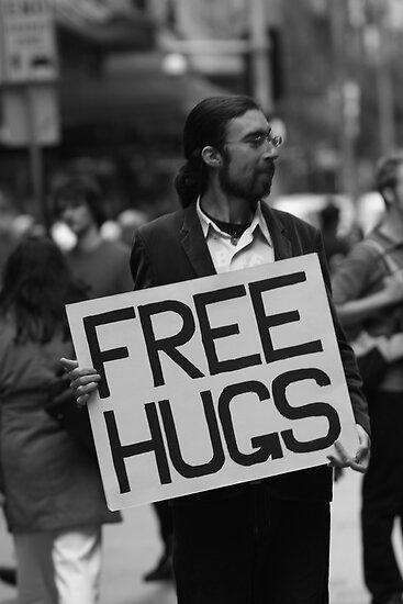Free hugs by David Petranker