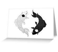 Koi Spirits Greeting Card