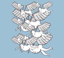 Flying Flock by mootuntees