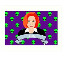 Scully Says  Art Print