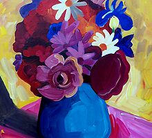 STILL  LIFE  BLUE  VASE by ART PRINTS ONLINE         by artist SARA  CATENA